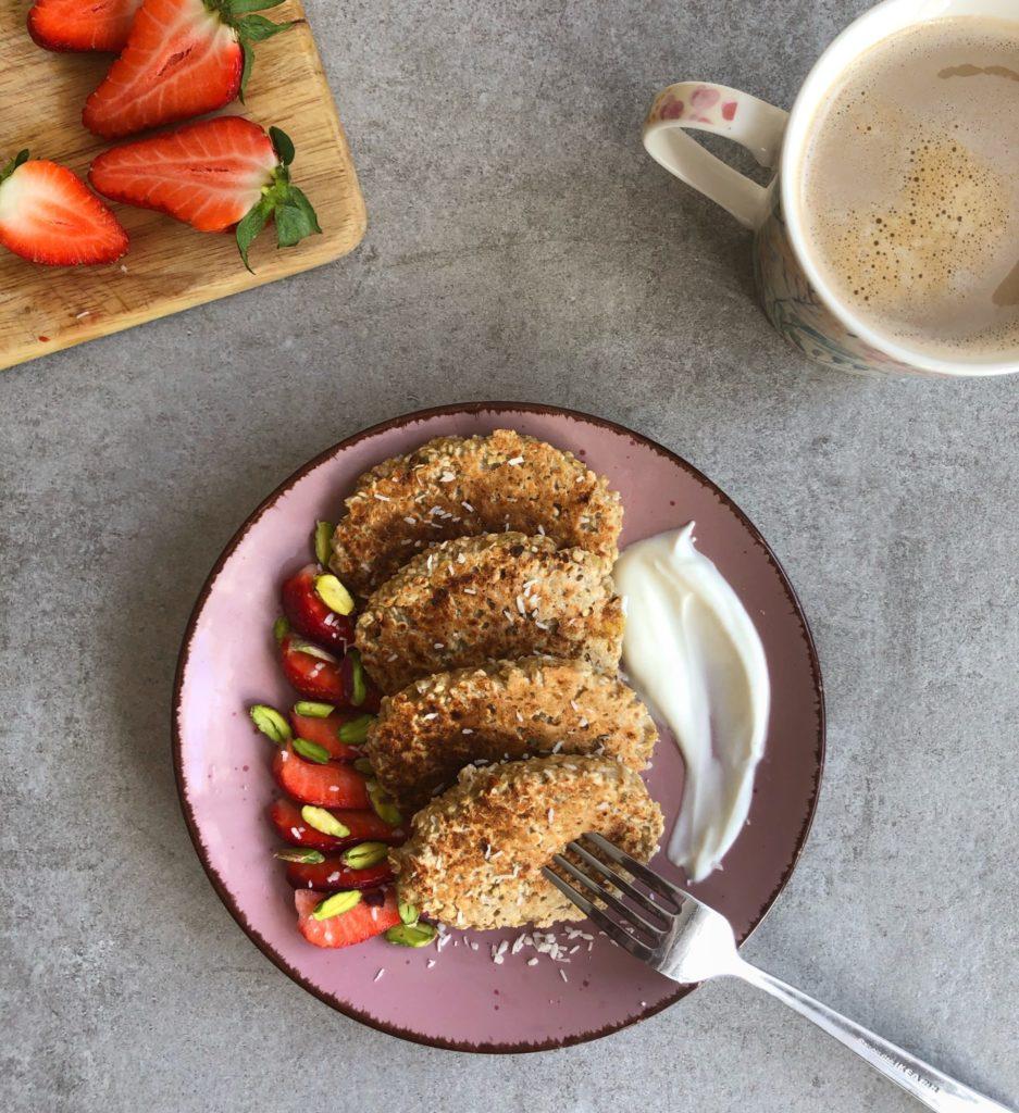 Placuszki owsiano-bananowe