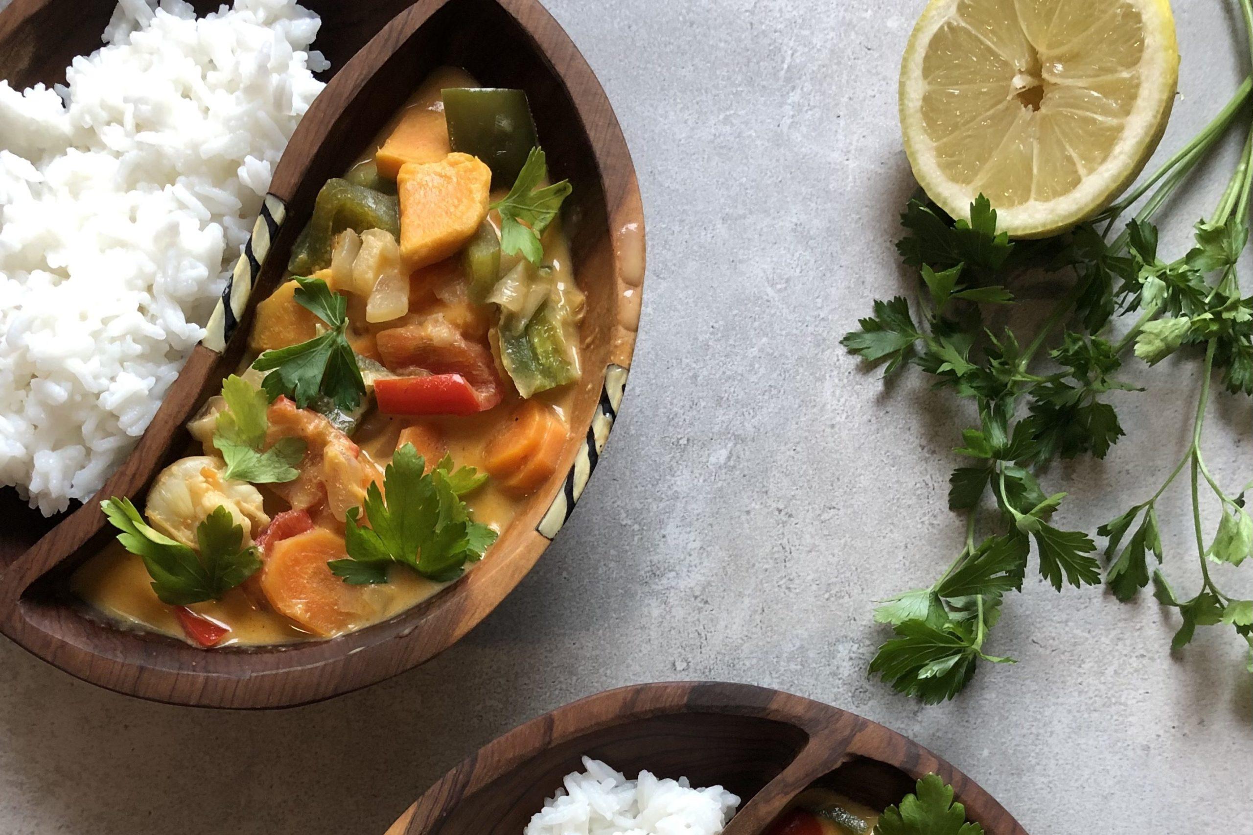 przepis na curry z krewetkami